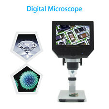 "4.3"" LCD 600X Desktop Digital Microscope HD 3.6MP CCD with Aluminum Alloy Stand"