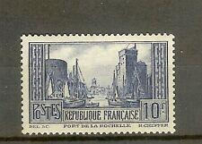 "FRANCE STAMP TIMBRE N° 261 "" PORT DE LA ROCHELLE 10F BLEU "" NEUF xx SUP"