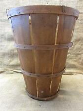 Vintage Weaved Wooden Basket > Antique Old Garden Kitchen Baskets Shabby 8446