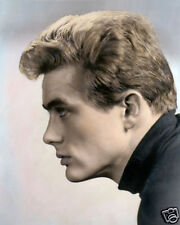 """JAMES DEAN HOLLYWOOD ACTOR & MOVIE STAR 8x10"""" HAND COLOR TINTED PHOTOGRAPH"""