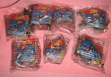 7 McDonald's Mulan Toys 1998 Khan Shan-Yu Cri-kee Shang-Li Chien-Po Wind-up Dog