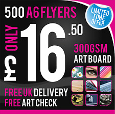 500 A6 Leaflets / Flyers 300gsm Coated Art Board, Full Colour - SINGLE SIDED