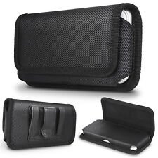 For iPhone X 8 8 Plus Horizontal Nylon Fabric Leather Holster Belt Pouch Case