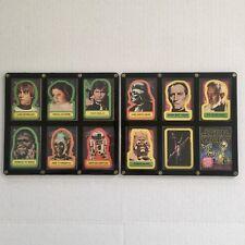 1977 Framed Wrapper & Complete Topps Star Wars 1st Series 11 Card Sticker Set!