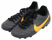 Nike Tiempo Youth Boys Black Orange Athletic Sports Soccer Cleats Shoes Size 10C