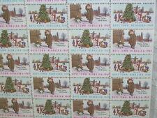 CHRISTMAS SEALS BOYS TOWN 1969 FATHER FLANAGAN'S BOYS TOWN MINT SHEET SET/ 50