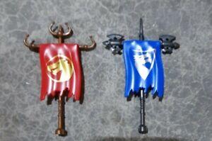 Mega Bloks Dragon's Warfang & Valtheran Flags Replacement Lot of 2