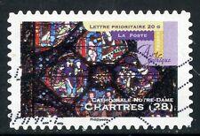 TIMBRE FRANCE AUTOADHESIF OBLITERE N° 553 ART GOTHIQUE / CATHEDRALE DE CHARTRES