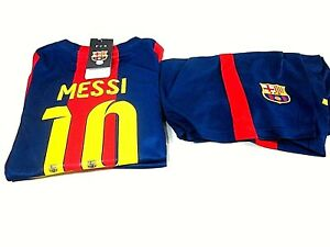 FC Barcelona Home Messi Football/Soccer Jersey and Shorts,Kids Size 30,New