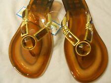 Palm Harbor Women Flip Flop Shoes Sz 6 Brown Jewels