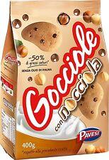 Pavesi Barilla Kekse Gocciole Nocciola mit Haselnuss Tropfen 400g kuchen