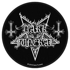 OFFICIAL LICENSED - DARK FUNERAL - CIRCULAR LOGO SEW ON PATCH BLACK METAL