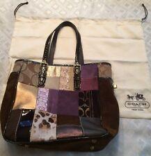 Coach Bag/Purse & Duster Brown Patch Multi