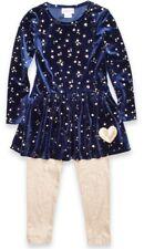 Flapdoodles Little Girl's Star & Heart Print Dress &  Legging Set-Size-5 or 6X