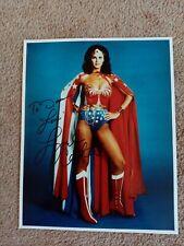 More details for lynda carter wonder woman signed 10x8 photo + coa