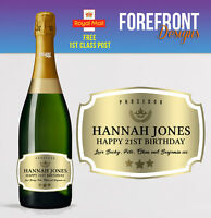 Personalised Prosecco bottle label Perfect Birthday/Anniversary/Graduation Gift