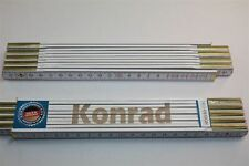Zollstock mit Namen  KONRAD  Lasergravur 2 Meter Handwerkerqualität