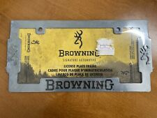 NEW!! Browning Zinc Aged Nickel Finish Metal Truck Auto License Plate Frame