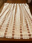 Vintage+Pair+Mid+Century+Retro+Woven+Pleated+Lined+drapes+curtains+112w+by+56L