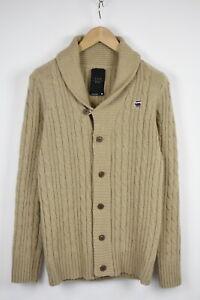 G-STAR RAW CL BORRE SHAWL CARDIGAN KNIT Men's MEDIUM Wool Blend Sweater 33729_GS