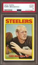 1972 Topps #150 Terry Bradshaw PSA 9 mint Steelers
