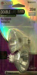2 Utilitech 35-Watt 12-Volt FMW GU5.3 Double-Life Halogen Bulbs - 4,000 Hours