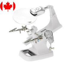 3X 4.5X Helping Hand LED Magnifier Soldering Stand Holder Magnifying Glass