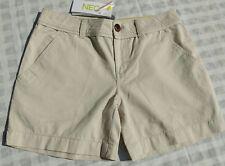 """💕 BNWT Adidas Neo Ladies/Girls Beige Chino Shorts 26"""" Waist"""