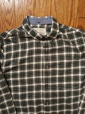 AÉROPOSTALE White Green Plaid Cotton Long Sleeve Mens Casual Shirt Medium M