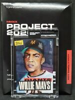 Topps PROJECT 2020 Card 101 1952 Willie Mays by Jacob Rochester Print Run: 10558