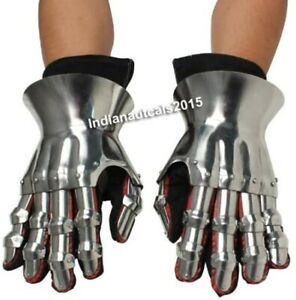 Gauntlet Gloves Steel Medieval Knight Crusader Spartan Armor Costume Knight Gift
