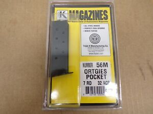 ORTGIES POCKET, .32ACP, 7 RD MAGAZINE, by TripleK #56M  Made in the USA!