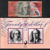 Australia. 1994 20 Dollars - Fraser/Evans..  NPA Folder - with Black Overprint.