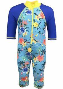 BNWT MINI CLUB Tropical Boys Sunsafe UV Sun swimsuit surfsuit 3-6 month - 3-4 Y