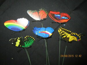 6 x Flying Butterflies