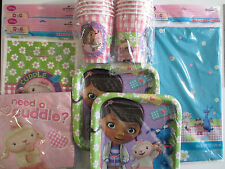 DOC McSTUFFINS Disney  Birthday Party Supply Kit Pack for 16 w/ Treat Bags