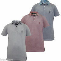 New Mens Branded Crosshatch Printed Cotton Pique Polo T Shirt Top