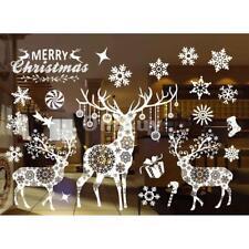 Autocollant Noël Sticker de Fenêtre de Mur Décoration de la Maison