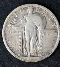 1923-P STANDING LIBERTY 90% SILVER QUARTER DOLLAR COIN / GRADE VG / C258