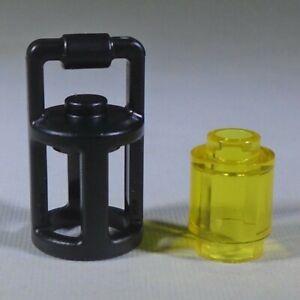 new LEGO black Lantern with translucent-yellow round brick