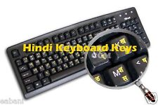 'Yellow'HINDI LETTERS Keyboard Stickers - Labels for computer laptop key