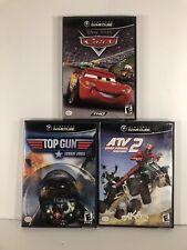 Gamecube Racing Game Lot Atv 2 Quad Power Racing Top Gun Combat Zone Disney Cars