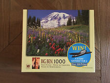 NEW Big Ben 1000 Pc Puzzle Mount Rainier National Park, WA, USA Hasbro 20x26