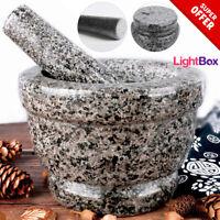 Molcajete Stone Tejolote Pestle NonSlip Mortar Granite Mexican Food Kitchen NEW