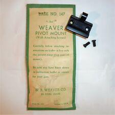 Vintage NOS Weaver #147 Pivot SCOPE Mount Cooey, Enfield, Ruger, Sears, Win.