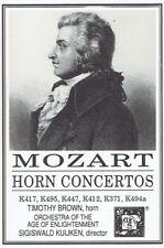 Timothy Brown, Sigiswald Kuijken - Mozart Horn Concertos MHS Cassette Tape