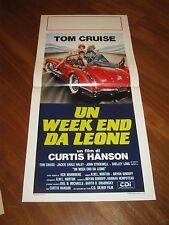 LOCANDINA,Un week-end da leone,Losin' It,1983, Tom Cruise,AUTO CAR SPIDER,RACE