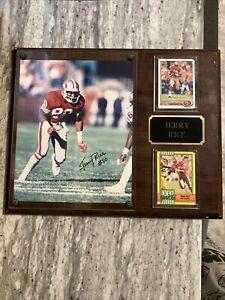 Jerry Rice Auto Signed Plaque: San Francisco 49ers Autograph; HOF; Read!