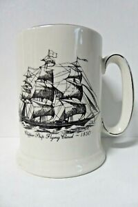 VINTAGE WOOD & SONS CLIPPER SHIP FLYING CLOUD TEA CUP POTTERY CHINA MUG