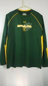 Baylor Bears Green Poly HeatGear Long Sleeve Shirt by Under Armour 3XL